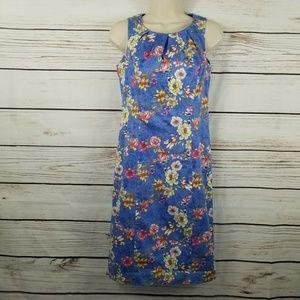 Talbots | Petite Sleeveless Floral Dress